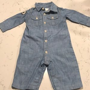 Ralph Lauren Baby Boy One-Piece Chambray Coverall